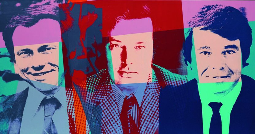 Andy Warhol, The Three Gentlemen, 1982 . Acryl/Siebdruck/Leinwand, 101,8 x 203,4 cm. Museum Frieder Burda, Baden-Baden