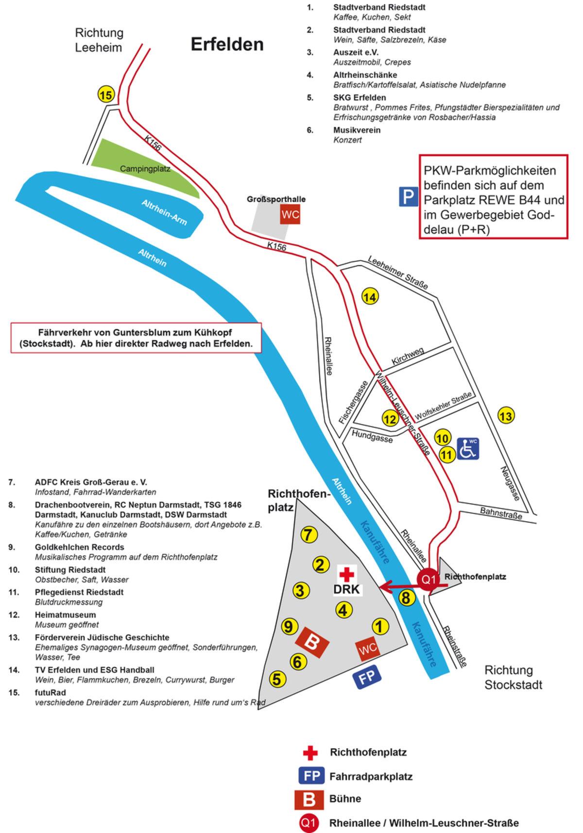 Unterhaltung, Information und Versorgung: Stadt Riedstadt